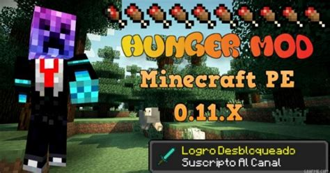 hunger games mod in minecraft pe hunger bar mod minecraft pe mod minecraft hub