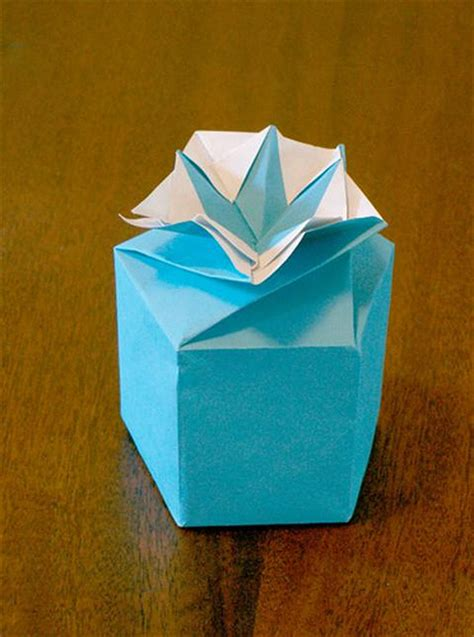 Origami Twist Box - the fitful flog 187 archive 187 pentagonal compass