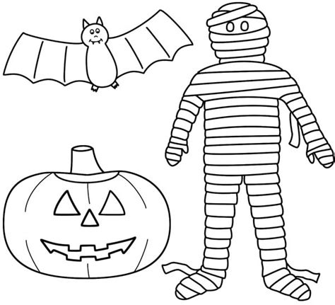 Mummy Jack O Lantern Template happy pumpkin coloring pages printable free