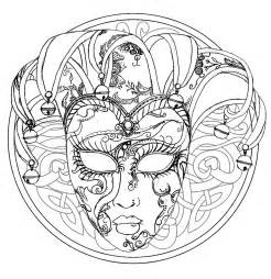 mandala venice carnival mask mandalas coloring pages