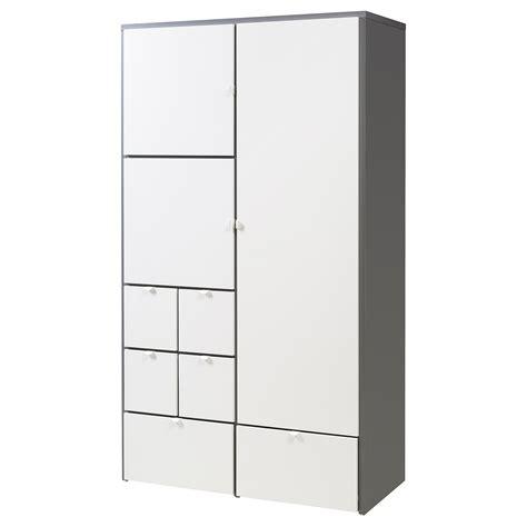 Kleiderschrank Visthus by Visthus Wardrobe Grey White 122x59x216 Cm Ikea