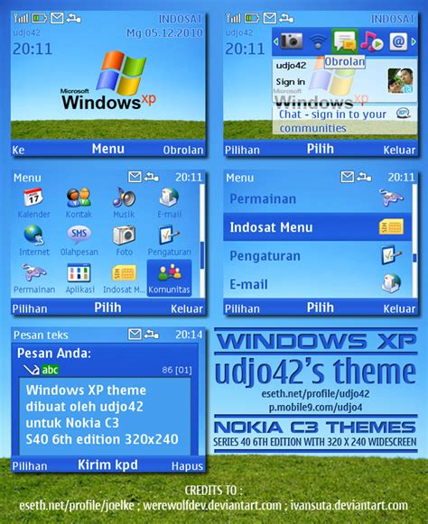download themes for nokia with tone windows xp nokia c3 theme