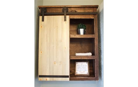 wood barn door storage cabinet sliding barn door bathroom cabinet shanty 2 chic