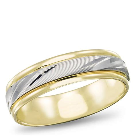 Two Tone Gold Wedding Band - 15 photo of two tone wedding bands for him