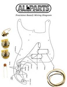 new precision bass pots wire amp wiring kit for fender p bass guitar diagram ebay