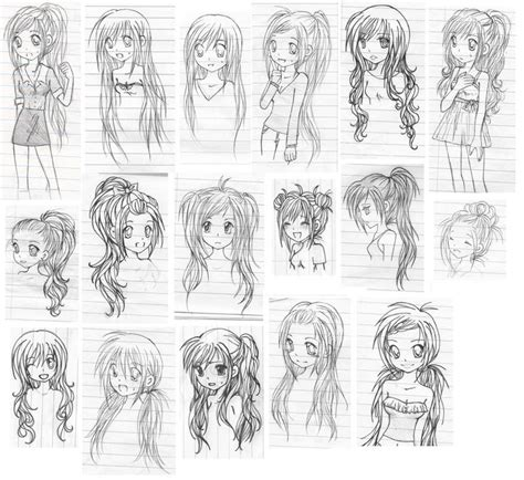 Hair Style Doll Heads With Different Colors by Different Anime Hairstyles Hairstyles By Unixcode