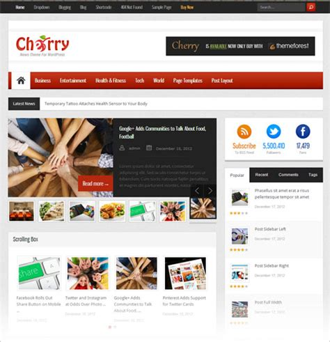 15 new free premium responsive blog magazine wp themes