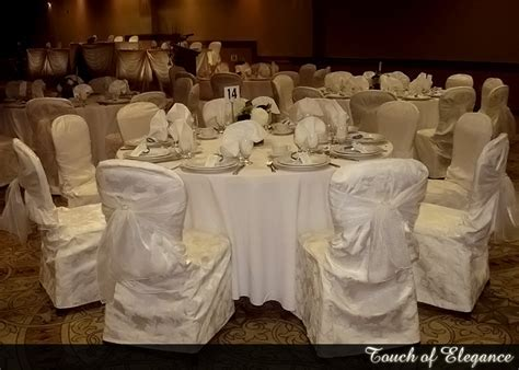Niagara Chair Covers, Touch of Elegance, linens, bridal