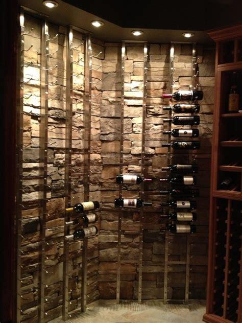 Cellar Wine Rack by Custom Cellar With Wineracks Wood And Metal Racks