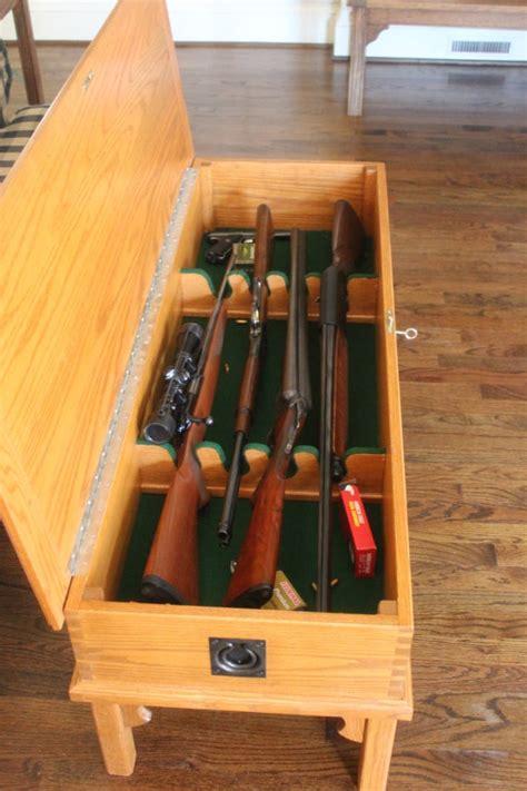 gun cabinet coffee table woodworking