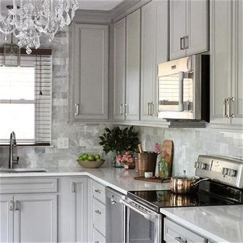 Gray Raised Panel Kitchen Cabinets Design Ideas