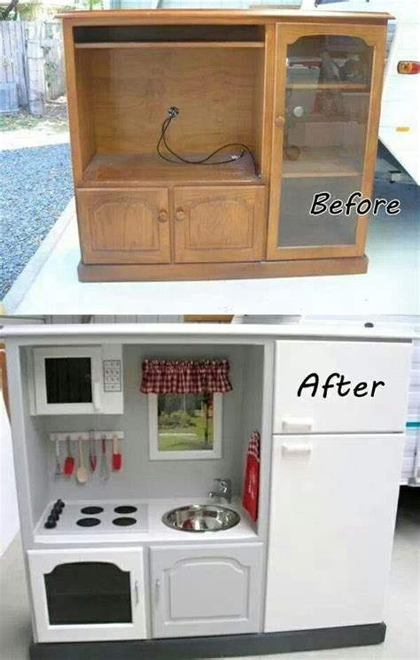 tv cabinet made into play kitchen tv cabinet to kid s play kitchen to build with matt