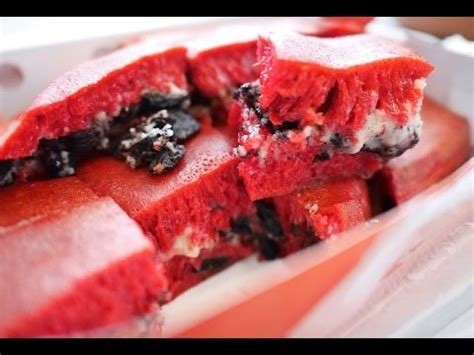 street food martabak manis red velvet oreo youtube