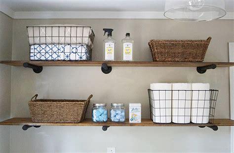 Shelf Storage Ideas diy laundry room storage ideas pipe shelving