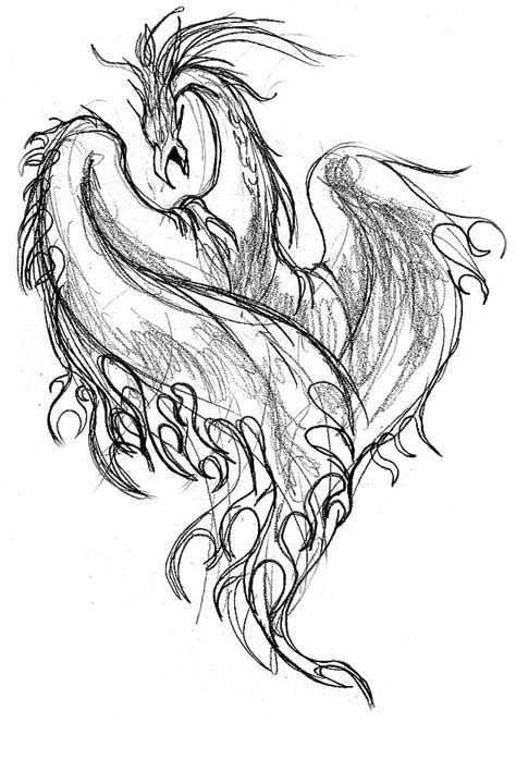 phoenix sketch by mu63n on deviantart
