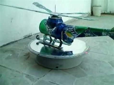 barco a vapor casero con material reciclado helicoptero de sprite hecho con latas de refresco youtube