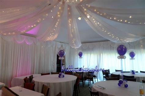 ceiling drapes with fairy lights balloon kingdom wall drapes venue draping balloon kingdom