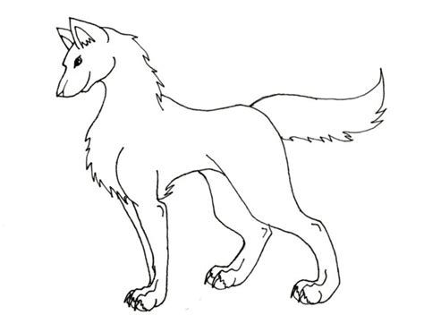 Outlines Of Wolves by Wolf Outline Pictures To Pin On Pinsdaddy