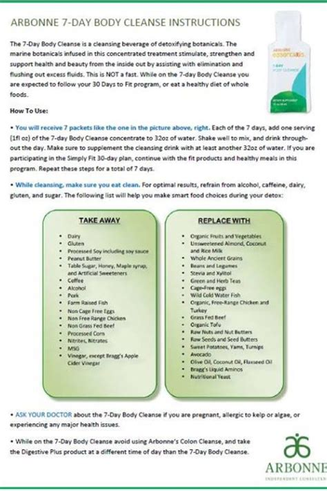 Arbonne Detox Meal Plan by Arbonne 28 Day Detox Detox Diet Cleanse