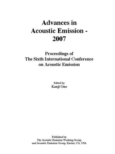 ICAE6(2007) | Nondestructive Testing | Fracture