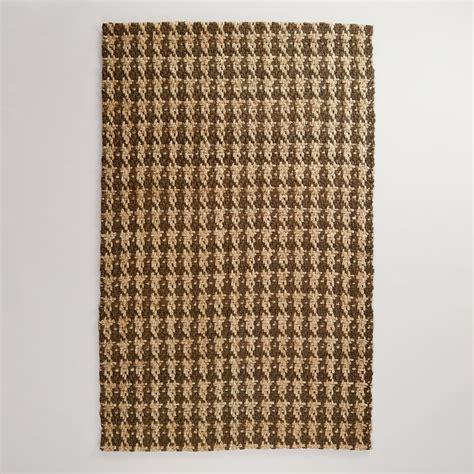 world market jute rug 5 x 8 chocolate jute herringbone rug world market