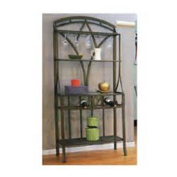 Modern Bakers Rack Contemporary Bakers Rack 62361 Br Wd Idollarstore
