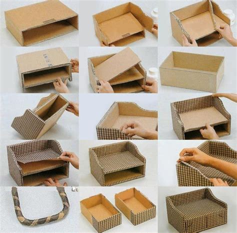 Decorative Cardboard Storage Boxes Home Organization by Diy Storage Box Out Of Old Cardboard And Fabric Diy Pinterest Boys Storage Boxes And Diy