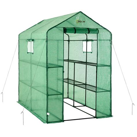 Ideas For Kitchen Window Treatments by Ogrow 49 In W X 74 In D Large Heavy Duty Walk In 2 Tier