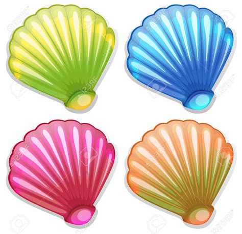color shell shell clipart colorful pencil and in color shell clipart