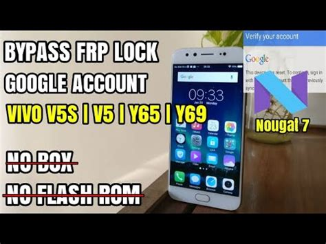 pattern lock vivo v5 how to bypass frp lock vivo v5s vivo v5 nougat 7 remove