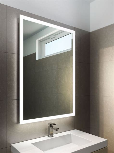 halo wide led light bathroom mirror 842v illuminated