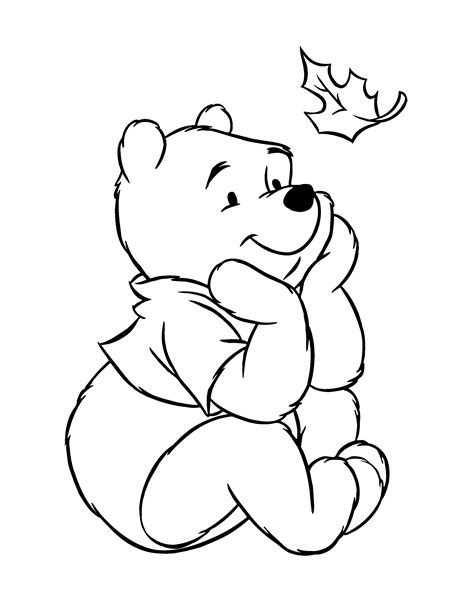 winnie the pooh black and white clipart