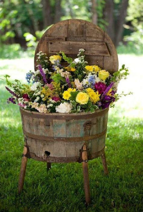 Wine Barrel Garden Ideas Best 25 Wine Barrel Planter Ideas On