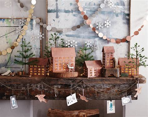 christmas home decorations classic christmas copper mantel decoration nova68 com