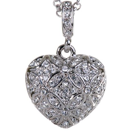 Necklace Pegasus Swarovski Silver Rhodium n7122 rhodium swarovski pendant necklace