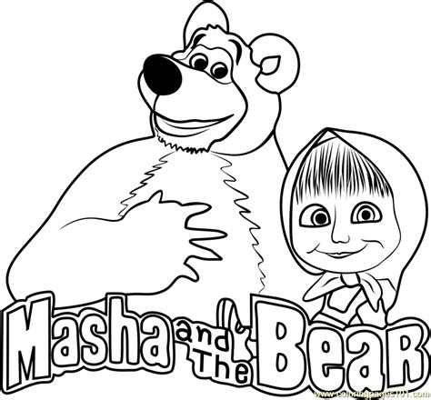 coloring pages masha and bear masha and the bear coloring page free masha and the bear