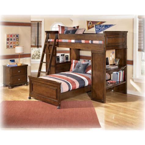 p ashley furniture twin upperlower loft bed  desk