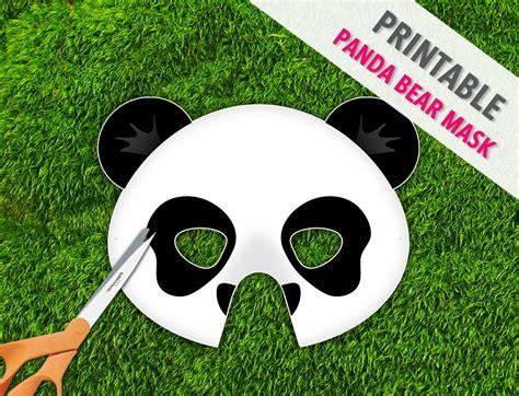 printable panda mask template panda bear printable mask panda bear halloween mask