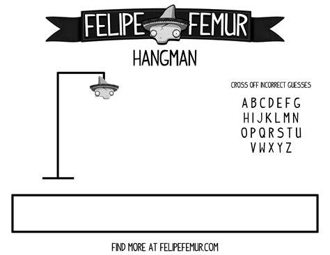 Hangman Template by Free Hangman Template Felipefemur Gamesforkids