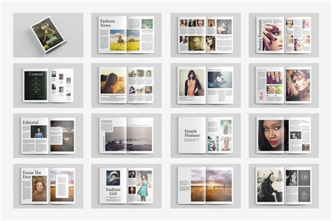 Magazine Format Template by Fashion Magazine Template V434 Magazine Templates