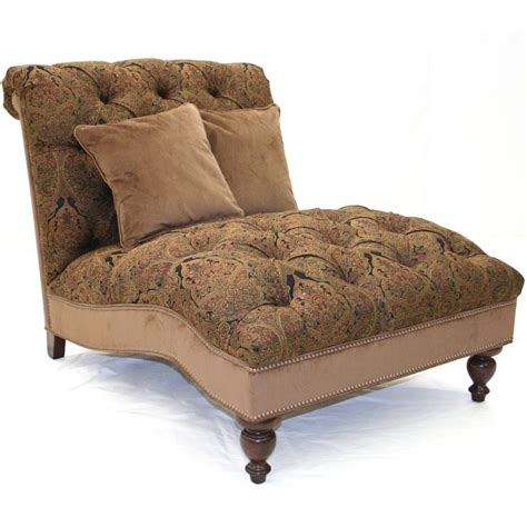 tall chaise lounge old hickory tannery red black paisley chenille chaise at