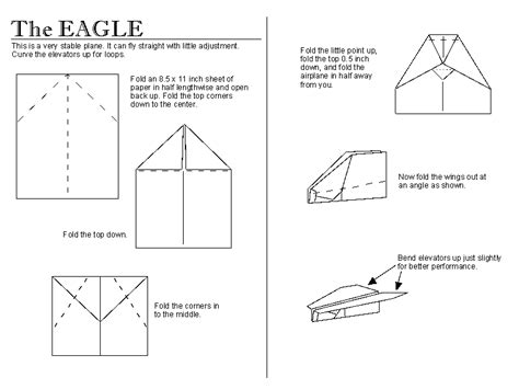 How To Make A Paper Airplane Called The Eagle - paper aeroplanes free