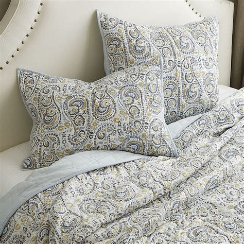 paisley quilt bedding paisley hand blocked quilted bedding ballard designs