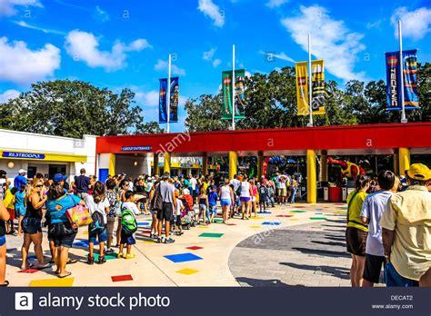 theme park entrance people line up at the entrance to legoland florida theme