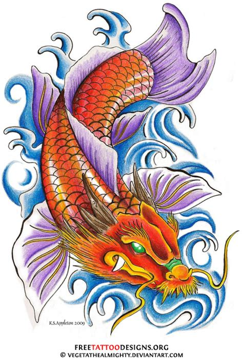 tattoo koi and dragon 40 koi fish tattoos japanese and chinese designs