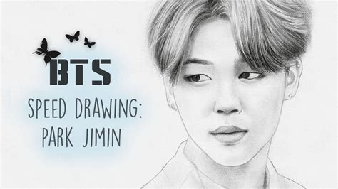 V Drawing Jimin by Speed Drawing Jimin 지민 Bts 방탄소년단
