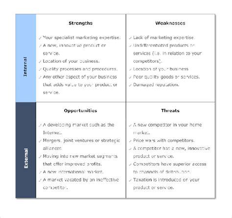 marketing swot analysis template 10 marketing swot analysis templates free sle