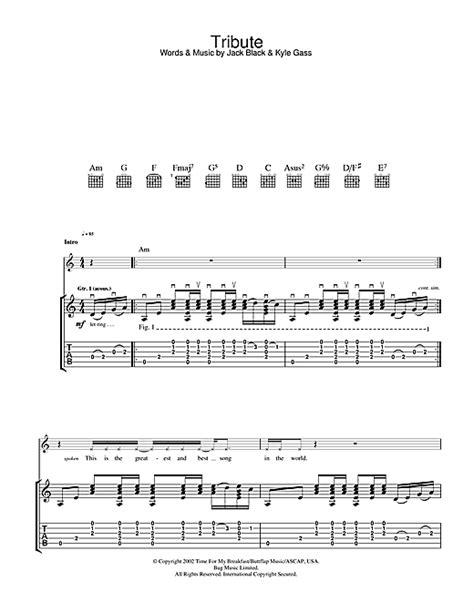 Tenacious D Tribute Guitar Chords