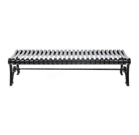 park bench metal metal backless park bench cal 953b canaan