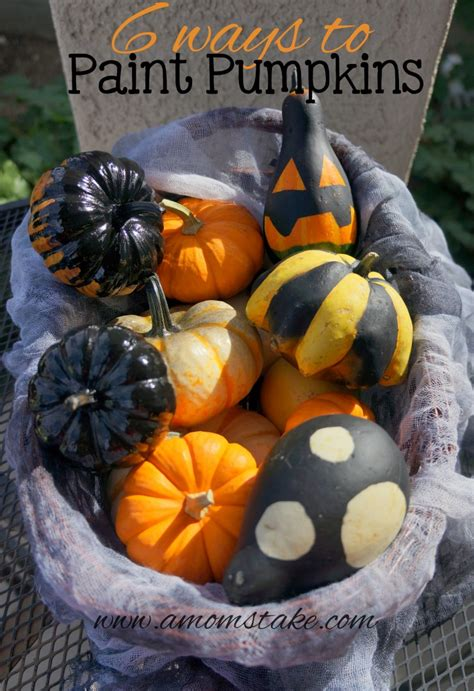 6 ways to paint pumpkins for halloween a mom s take